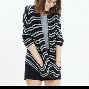Madewell striped upbeat m/l cardigan sweater